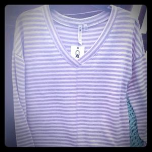 Cable and guage long sleeve top